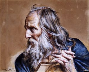 """Le Philosophe"", peinture de Vicenzo Gemito"
